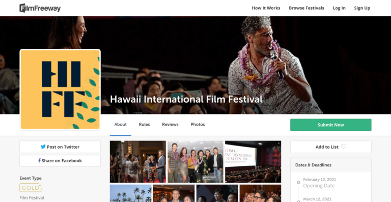 HIFF FilmFreeway Page